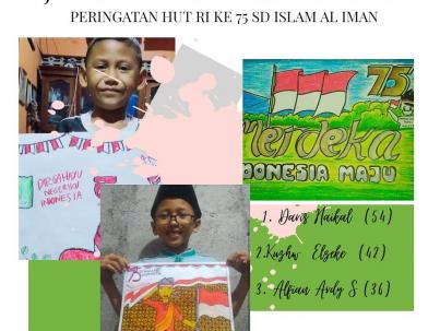 juara lomba like poster SD Islam Al Iman